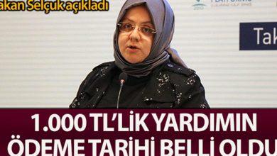 Photo of 1.000 TL'lik Yardım Ödemesinin Tarihi Belli Oldu
