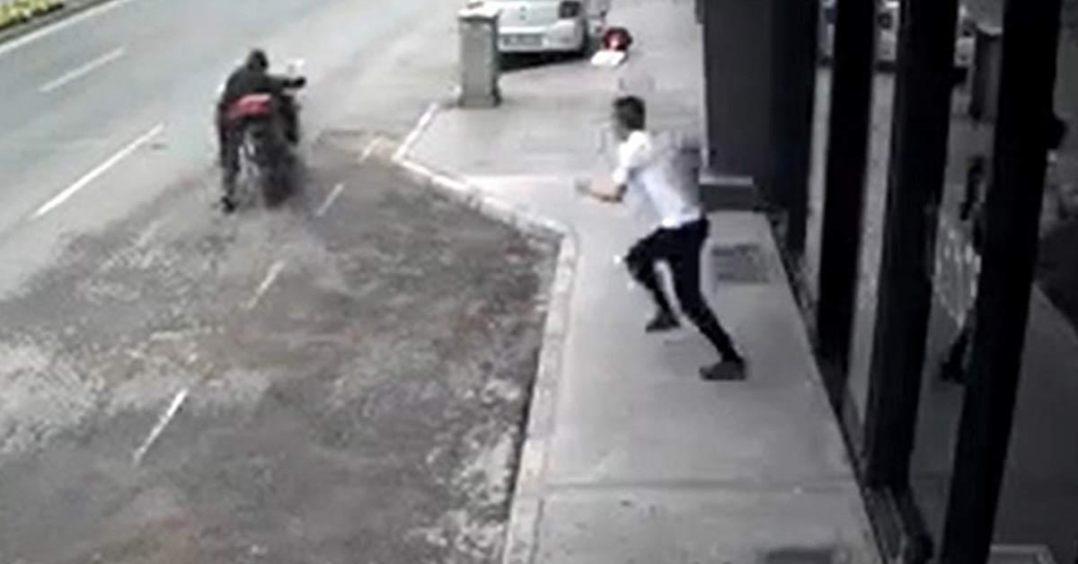 Motosiklet Hırsızına Meydan Dayağı
