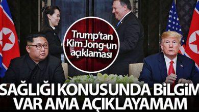 Photo of Trump'tan Kim Jong-un'un Sağlık Durumu Açıklaması