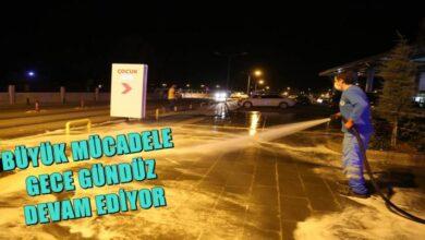 Photo of Eyyübiye Belediyesi Salgınla Mücadelesini Gece Gündüz Sürdürüyor
