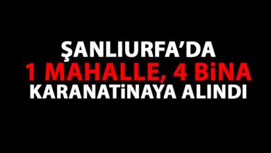 Photo of Şanlıurfa'da 1 mahalle ile 4 bina karantinaya alındı