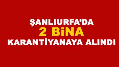 Photo of Şanlıurfa'da 2 bina karantinaya alındı