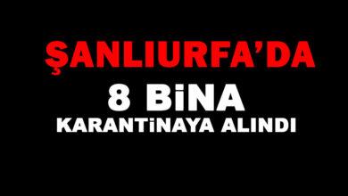 Photo of Şanlıurfa'da 8 bina karantinaya alındı