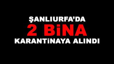 Photo of Şanlıurfa'da 2 Bina Daha Karantinaya Alındı