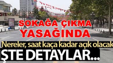 Photo of Sokağa Çıkma Yasağında Nereler Kaça Kadar Açık