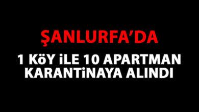 Photo of Şanlıurfa'da 1 Köy, 10 Apartman Karantinaya Alındı