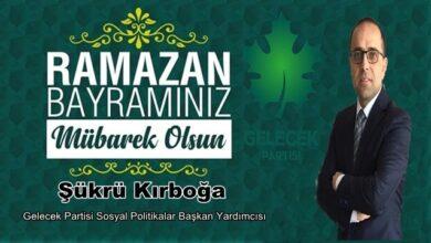 Photo of Şükrü Kırboğa Bayram Mesajı Yayınladı