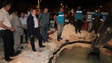 Photo of ŞUSKİ Müdürü Gece Yarısı Ayakta