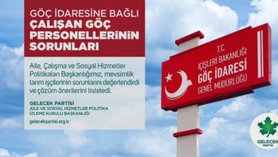 Photo of Gelecek Partisi Göç Personellerinin Sorunları Çözülsün
