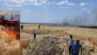 Photo of Şanlıurfa'da Bir Çiftçi Traktörle Ateşin İçine Daldı
