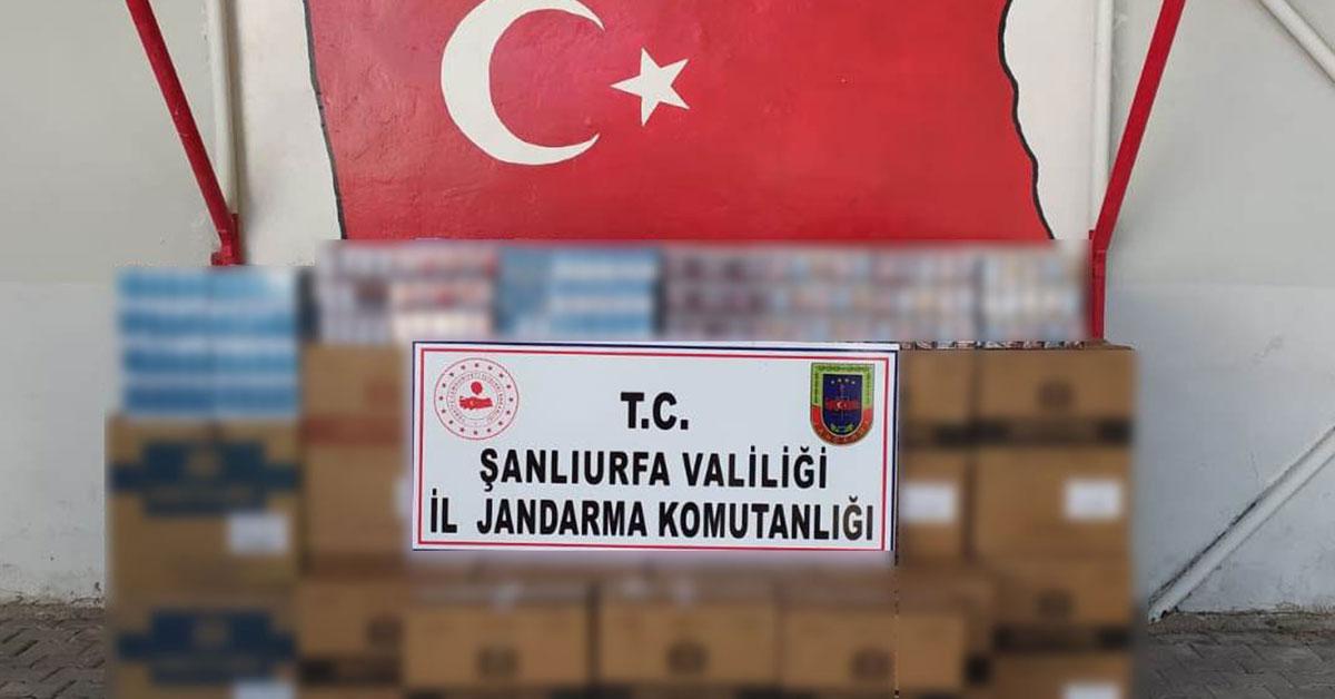 Şanlıurfa Jandarma Sigara Kaçakçılığı