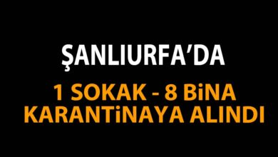 Photo of Şanlıurfa'da Pozitif Vaka! 1 Sokak, 8 Bina Karantinada