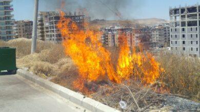 Photo of Karaköprü'nün Göbeğinde Tehlikeli Yangın