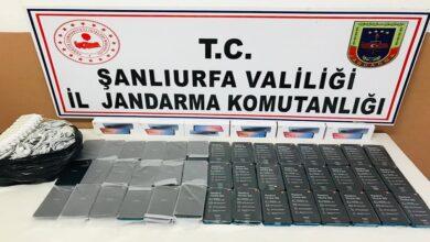 Photo of Şanlıurfa'da Çok Sayıda Kaçak Cep Telefonu Ele Geçirildi