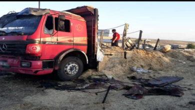 Photo of Saman yüklü kamyon yandı