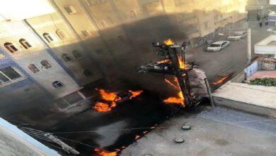 Photo of Trafo yandı, alevler otomobile sıçradı