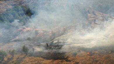 Photo of Şanlıurfa'da yangına müdahale havadan görüntülendi