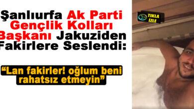 Photo of Urfa Ak Parti Gençlik Kolları Başkanı Jakuzide Fakirleri Aşağıladı