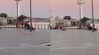 Photo of Erkek Arkadaşıyla Tartışan Kadın, Meydan Dayağı Attı