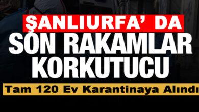 Photo of Şanlıurfa'da Korona Virüs Fırladı! 120 Ev karantinada