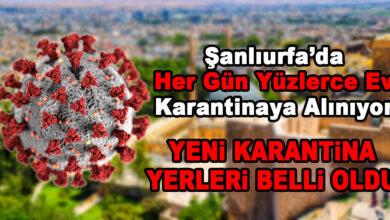 Photo of Korona Şanlıurfa'yı Esir Aldı! 97 Ev Daha Karantinada