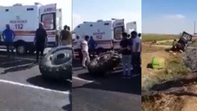 Photo of Son Dakika Şanlıurfa'da Kaza Traktörün Tekeri Fırladı