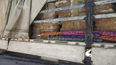 Photo of Pamuk balyalarının arasına gizlenen kumaş gümrüğe takıldı