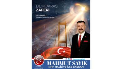 Photo of Başkan Mahmut Sayık'tan 15 Temmuz Mesajı