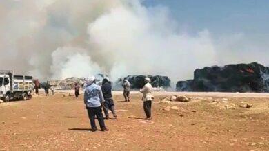 Photo of Şanlıurfa'da tonlarca saman kül oldu