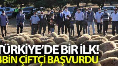 Photo of Türkiye'de bir ilk, 4 bin çiftçi başvurdu