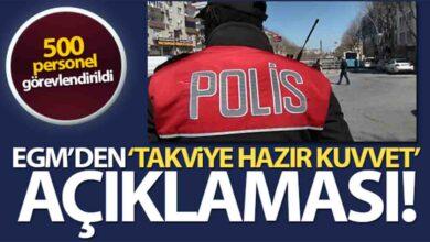 Photo of 500 Polis Görevlendirildi