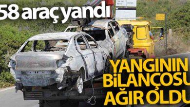 Photo of Bilanço ağır oldu: 58 araç yandı