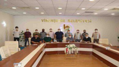 Photo of Ekinci kulüp başkanlarıyla bir araya geldi