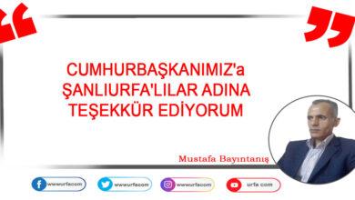 Photo of ŞANLIURFA'LILAR ADINA TEŞEKKÜR EDİYORUM