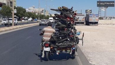 Photo of Urfa'da İnanılmaz Görüntü! 1 Motosiklette 14 Bisiklet