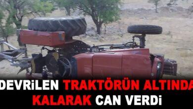 Photo of Devrilen Traktörün Altında Kalarak Can Verdi