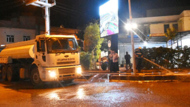 Photo of Ceylanpınar'da bütün caddelerde Korona temizliği