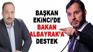 Photo of Başkan Ekinci'den Bakan Albayrak'a Destek