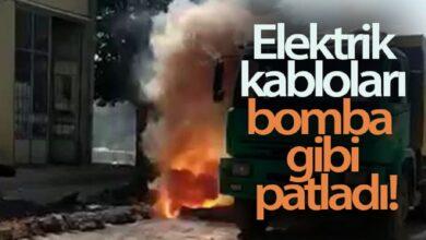 Photo of Elektrik kabloları bomba gibi patladı