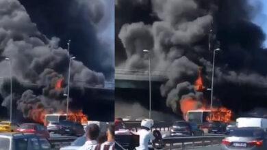 Photo of Son Dakika İstanbul'da Metrobüs Yanıyor