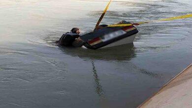 Photo of Otomobil sulama kanalına devrildi, 2 kişi boğuldu