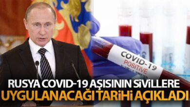 Photo of Rusya, Covid-19 aşısının sivillere uygulanacağı tarihi açıkladı