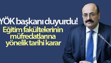 Photo of YÖK'ten müfredatlara yönelik tarihi karar