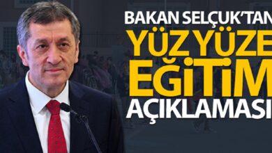 Photo of Bakan Selçuk'tan yüz yüze eğitim açıklaması