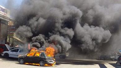Photo of Urfa Evren Sanayi Sitesinde Yangın! Araba Küle Döndü