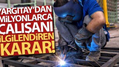 Photo of Yargıtay'dan milyonlarca çalışanı ilgilendiren karar!