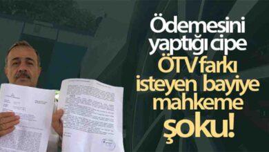 Photo of ÖTV farkı isteyen bayiye mahkeme şoku