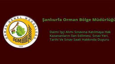 Photo of Şanlıurfa Orman Bölge Müdürlüğü Operatör alımı