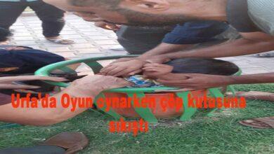 Photo of Akçakalede Oyun oynarken çöp kutusuna sıkıştı