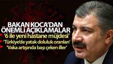 Photo of Bakan koca'dan Şanlıurfa'ya hastene açıklaması